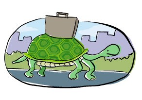 اینرسی تاثیری مشابه با حرکت لاکپشتی دارد