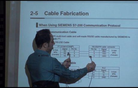 ارتباط بین PLC و HMI و ساخت کابل رابط