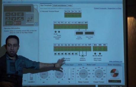 نرم افزار شبیه سازی عملکرد درایو برای آموزش اینورتر