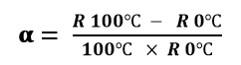 فرمول آلفا برای ترمیستور