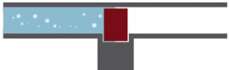 مدل آبی ترانزیستور قطع