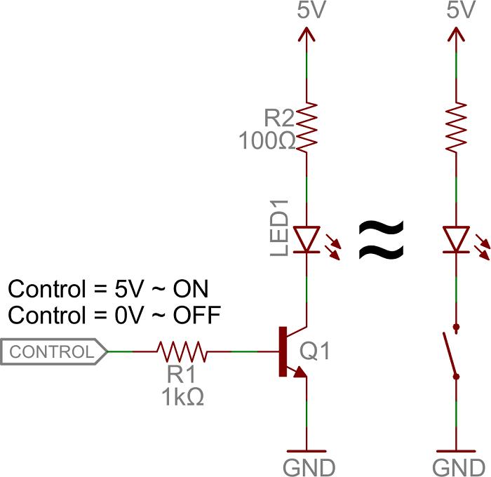 کاربرد ترانزیستور BJT از نوع NPN به عنوان سوئیچ