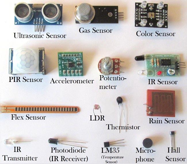 انواع سنسورهای الکترونیکی