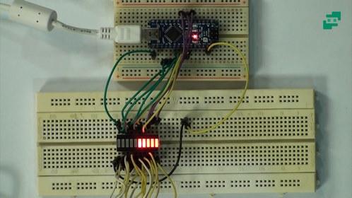 پروژه نمایش درصد شارژ باتری