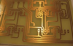 لایه copper از برد مدار چاپی
