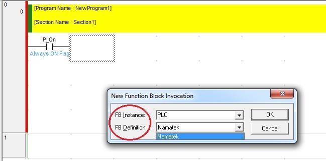 گام پنجم در ایجاد فانکشن بلاک در PLC