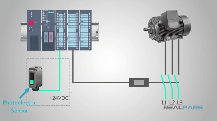 استفاده از سنسور فوتوالکتریک در سیستم رله