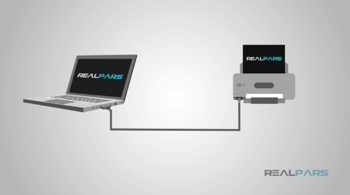 ارتباط لپ تاپ و پرینتر بوسیله پروتکل RS232