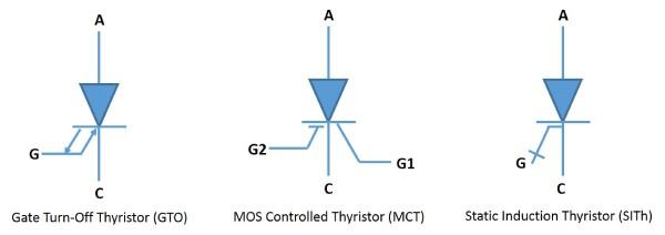 نماد انواع تریستور