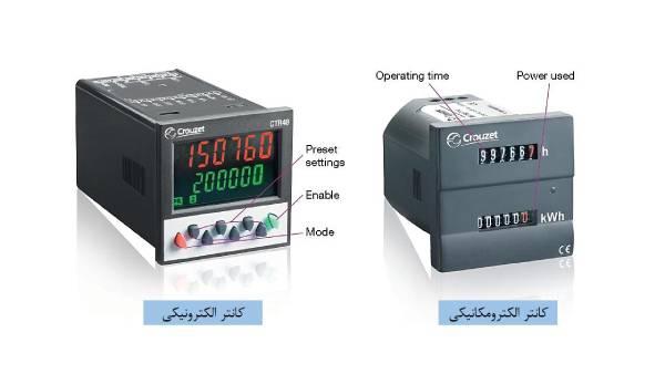 مقایسه کانتر الکترونیکی و الکترومکانیکی