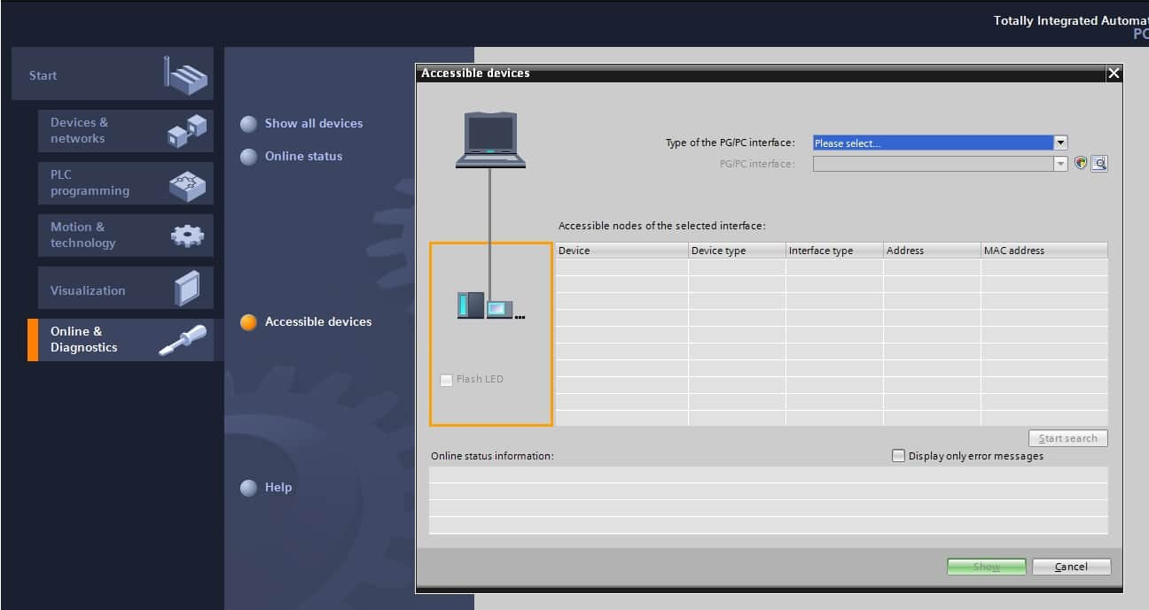 تنظیمات لازم برای اتصال plc به نرم افزار tia portal