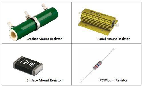 انتخاب مقاومت با توجه به پایه و روش نصب