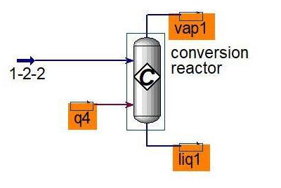 شبیه سازی راکتور شیمیایی Conversion