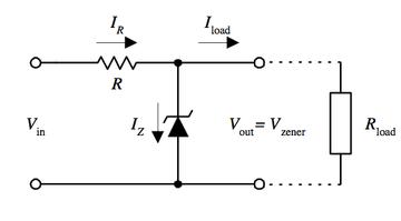 رگولاتور ولتاژ با دیود زنر
