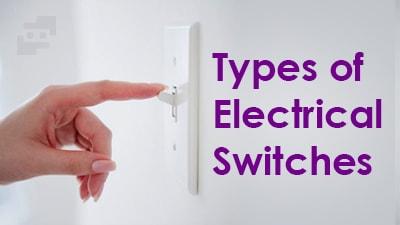 انواع کلید برق