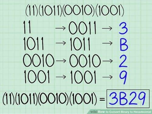 تبدیل عدد باینری به هگز