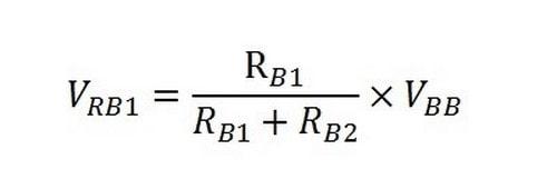 فرمول ولتاژ مقاومت RB1