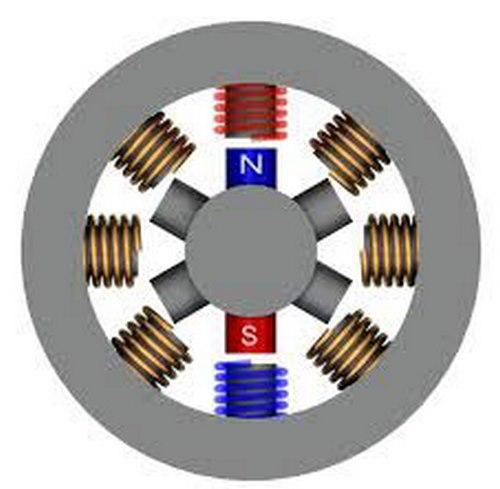 قطب و روتورهای موتور پله ای