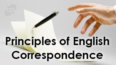 اصول نامه نگاری انگلیسی