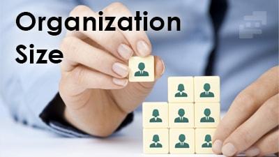 اندازه سازمان