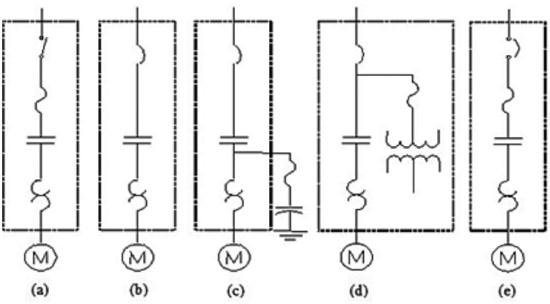 نمودار تک خطی استارت موتورهای الکتریکی ولتاژ ضعیف