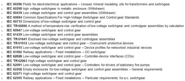 استانداردهای کلی تابلو برق