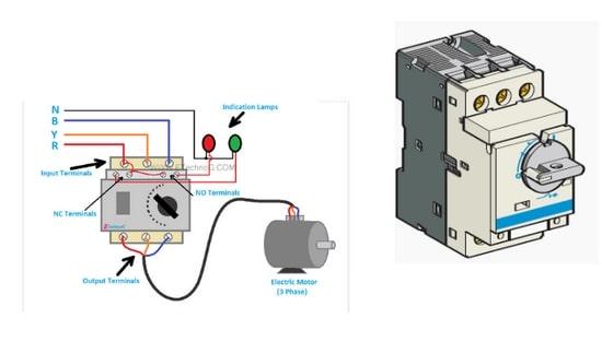 قطع کننده مدار حفاظت الکتریکی موتور