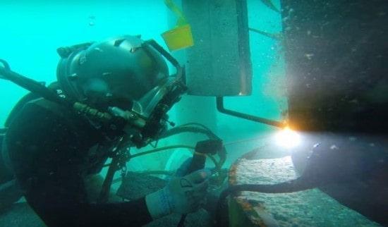جوشکاری مرطوب زیر آب