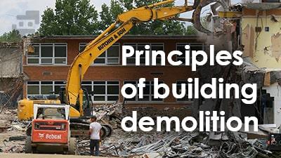 اصول تخریب ساختمان ها