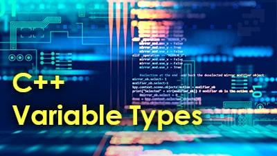 انواع متغیر در c++