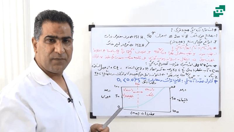 آموزش آزمایش مکانیک خاک (8)